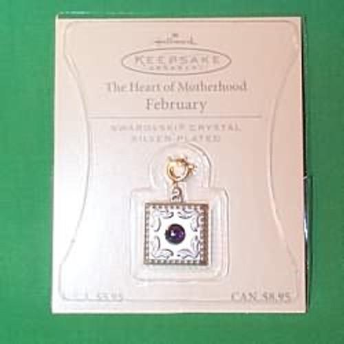 2003 Heart of Motherhood Charm - February (QEP2039)