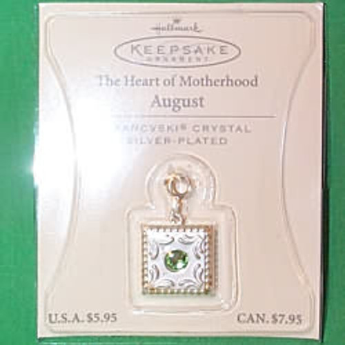 2003 Heart of Motherhood Charm - 08 August