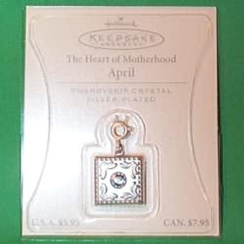 2003 Heart of Motherhood Charm - April (QEP2049)