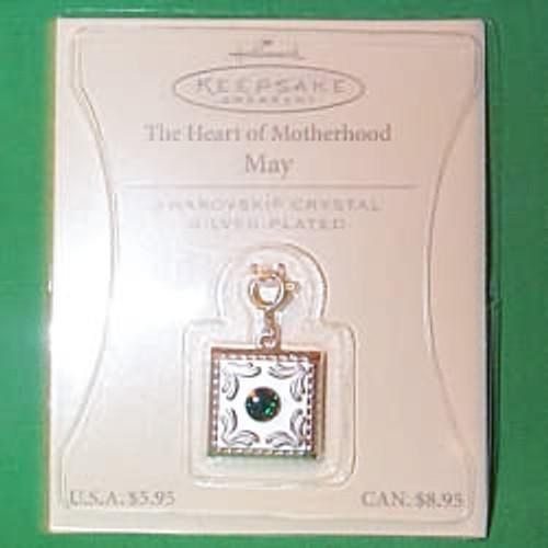 2003 Heart of Motherhood Charm - May (QEP2057)