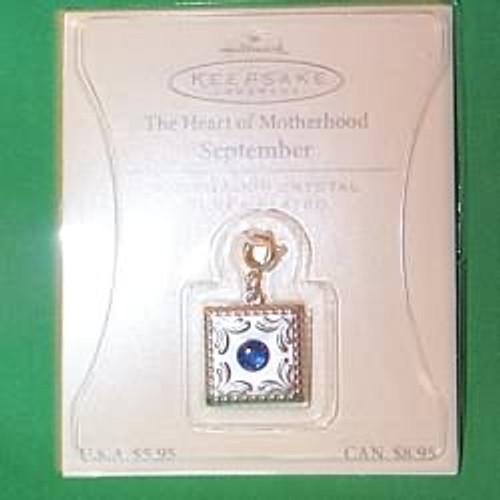 2003 Heart of Motherhood Charm - 09 September