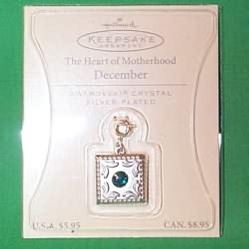 2003 Heart of Motherhood Charm - December (QEP2089)