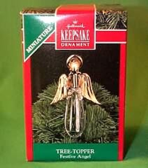1990 Festive Angel Tree Topper
