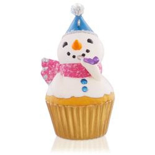 2015 Keepsake Cupcake # 6 - New Years Snowman