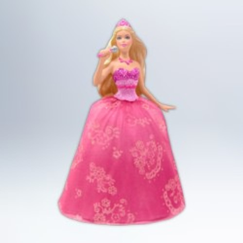 2012 Barbie The Princess and the Pop Star Barbie Ornament