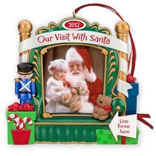 2012 Our Visit With Santa Photoholder