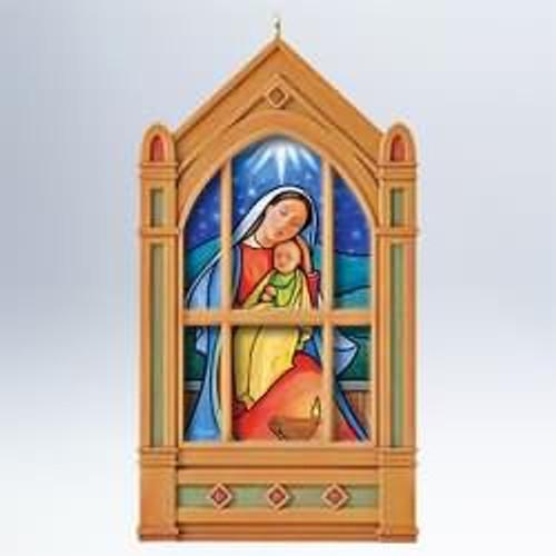 Glad Tidings 2010 Hallmark Windows of Faith Ornament 1st  Angel Religious Christ