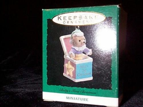 1993 Babys First Christmas Miniature