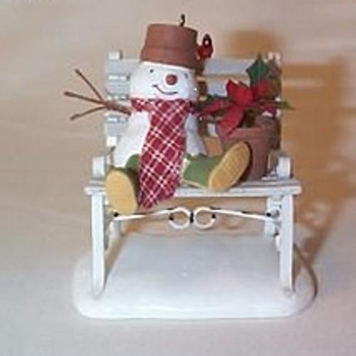2007 Snowmen - Garden Bench Buddies
