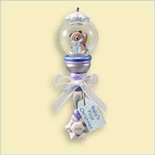 2006 Baby's 1st Christmas - Rattle Snow Globe