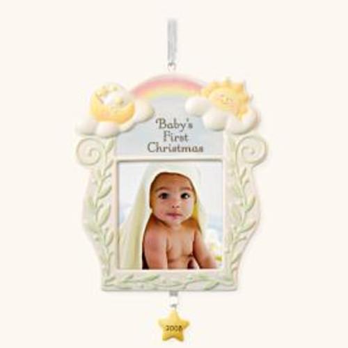 2008 Baby's 1st Christmas Photoholder - Ceramic