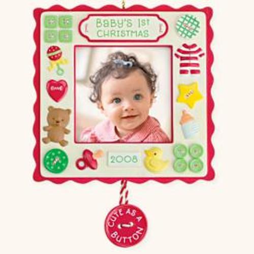 2008 Baby's 1st Christmas Photoholder - Square