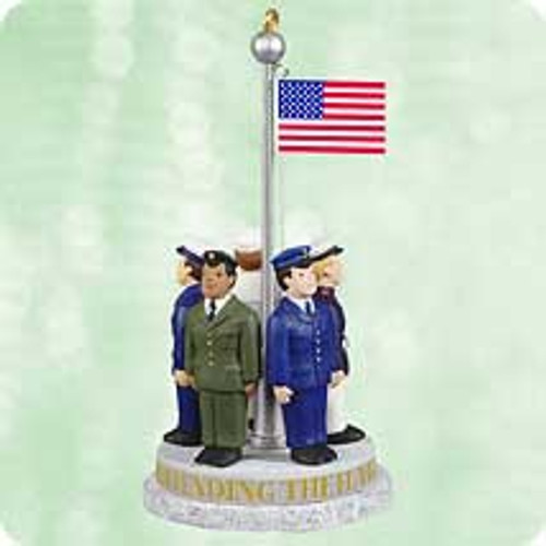 2003 Defending The Flag Hallmark ornament