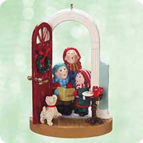 2003 Caroling At The Door Hallmark ornament