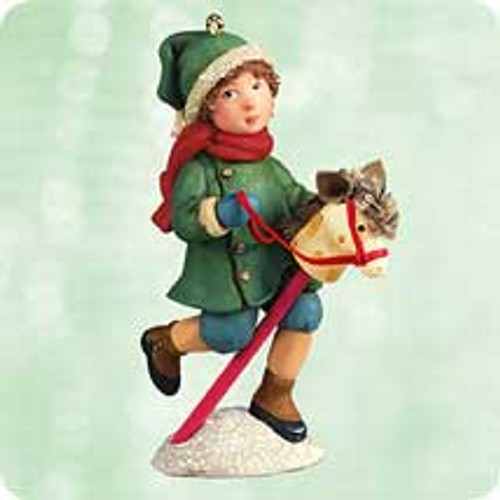 2003 Chalk- Giddy Up Christmas Hallmark ornament
