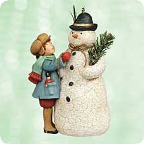2003 Chalk- A Very Merry Snowman Hallmark ornament