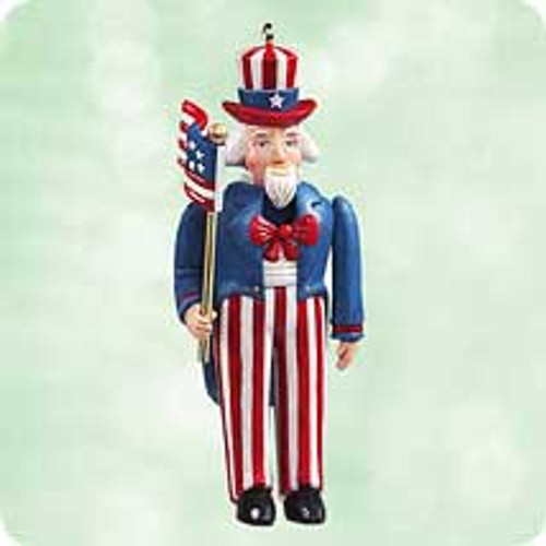 2003 Uncle Sam Nutcracker Hallmark ornament