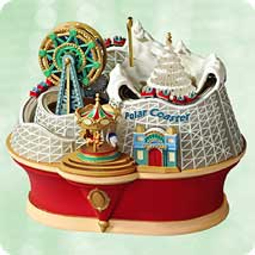 2003 Polar Coaster Hallmark ornament