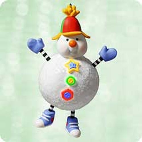 2003 Snowy Push N' Pull Hallmark ornament