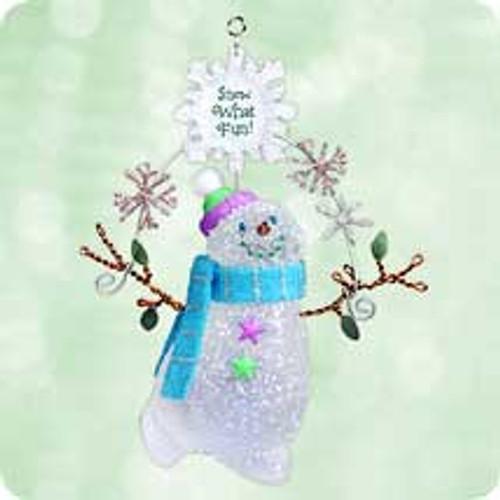 2003 Snow - What Fun Hallmark ornament