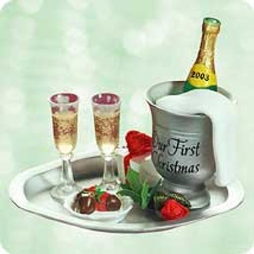 2003 1st Christmas Together - Champagne Hallmark ornament