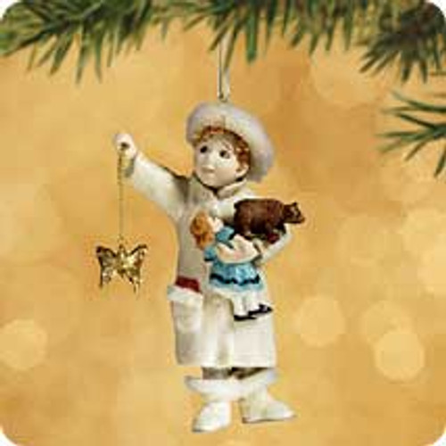 2002 Chalk - Joyous Angel Hallmark ornament
