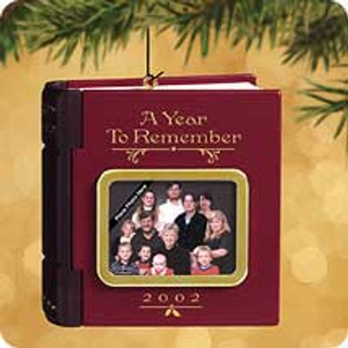 2002 A Year To Remember Hallmark ornament