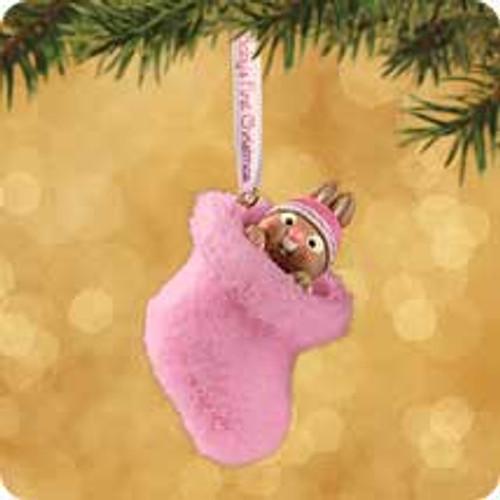 2002 Baby's 1st Christmas - Girl Hallmark ornament