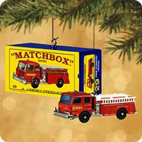 2002 Matchbox - Fire Pumper Hallmark ornament