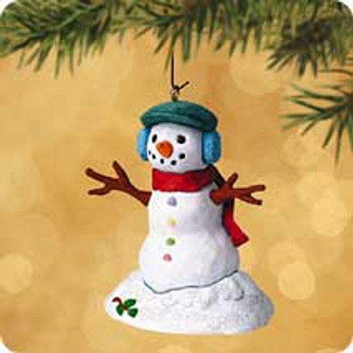 2002 Santa's Big Night - Snowman Hallmark ornament