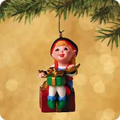 2002 Santa's Big Night - Curius The Elf Hallmark ornament
