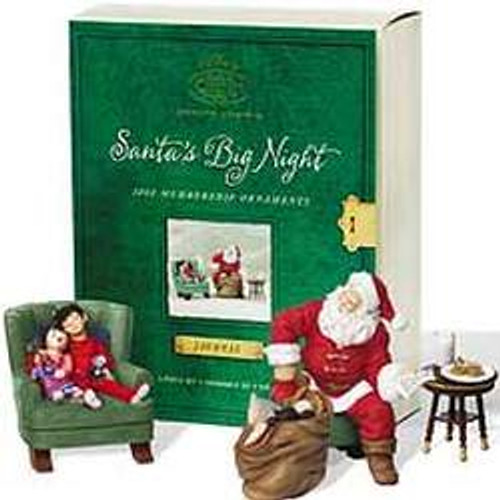 2002 Santa's Big Night - Santa Claus Hallmark ornament
