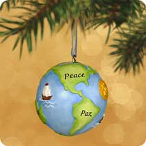 2002 Peace On Earth Bell Hallmark ornament