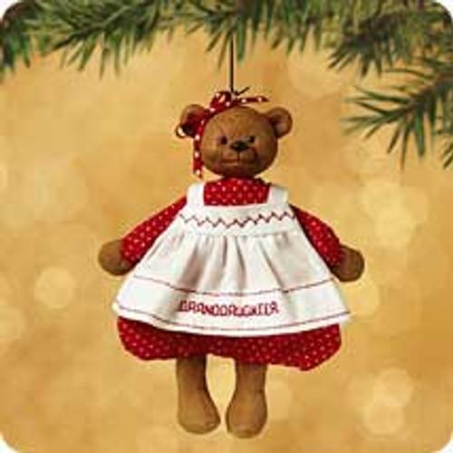 2002 Granddaughter Hallmark ornament
