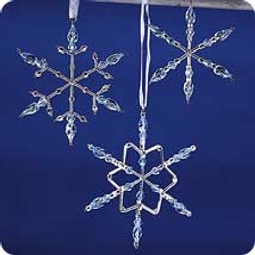 2001 Frostlight - Beaded Snowflakes - Blue Hallmark ornament