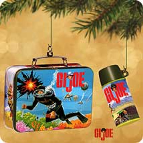 2002 GI Joe Lunchbox Hallmark ornament