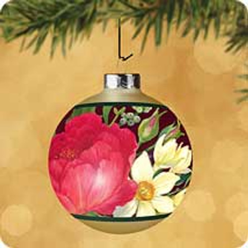 2002 Christmas Floral Hallmark ornament