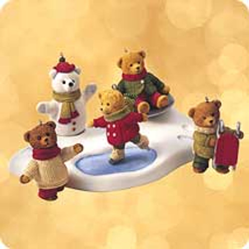 2002 Snow Cub Club Set Of 5 Hallmark ornament