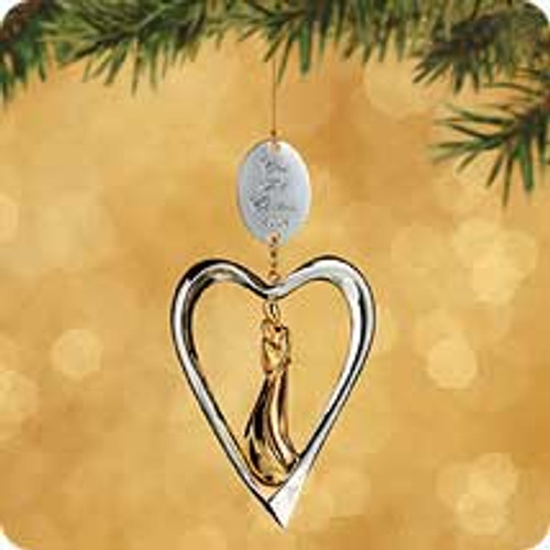 2002 1st Christmas Together - Metal Heart Hallmark ornament