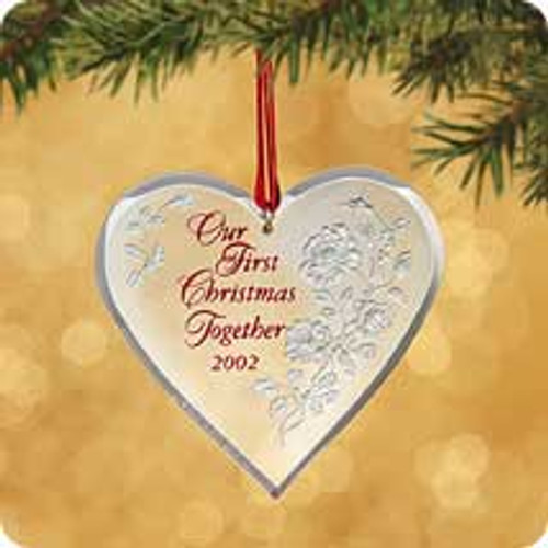 2002 1st Christmas Together - Acrylic Hallmark ornament
