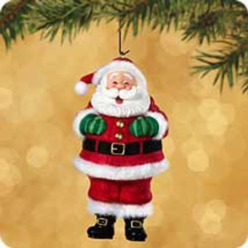 2002 Tickle Tickle Santa Hallmark ornament