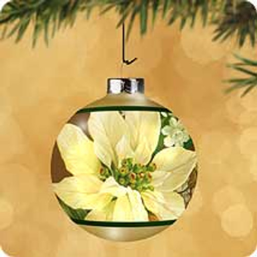 2002 White Poinsettia Hallmark ornament