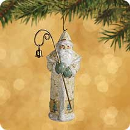 2002 Chalk - Yuletide Santa Hallmark ornament
