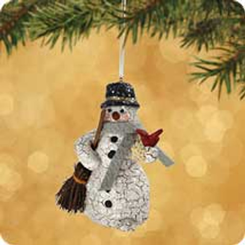 2002 Chalk - Snowy Friend Hallmark ornament