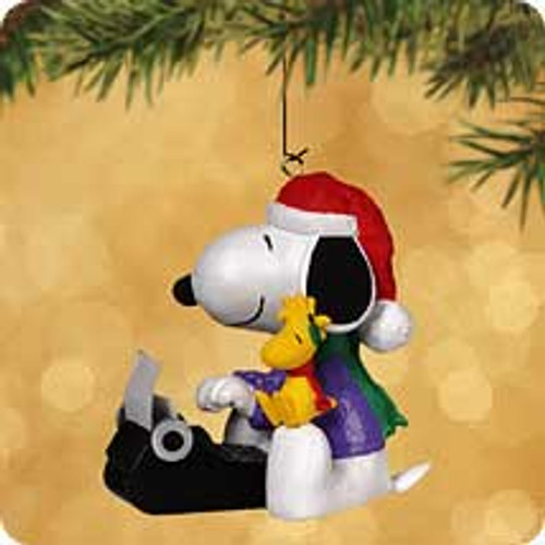 2002 Spotlight On Snoopy #5 - Literary Ace Hallmark ornament