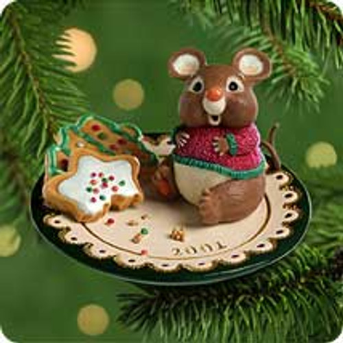 2001 Sharing Santa's Snacks Hallmark ornament