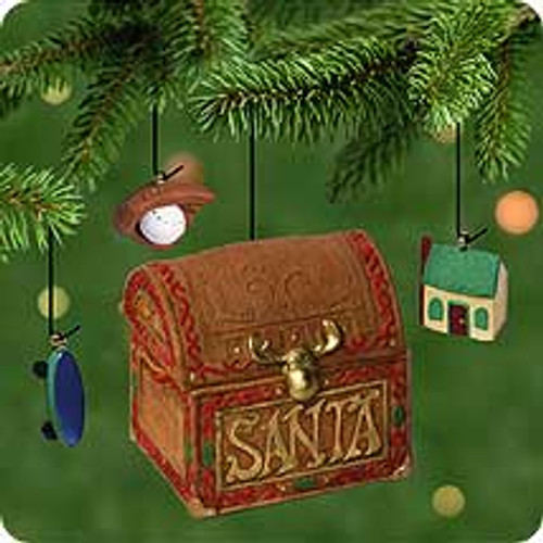 2001 Santa's Toy Box Hallmark ornament