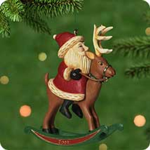 2001 Rocking Reindeer Hallmark ornament