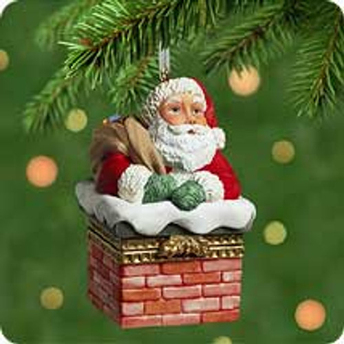 2001 Santa's Sweet Surprise Hallmark ornament