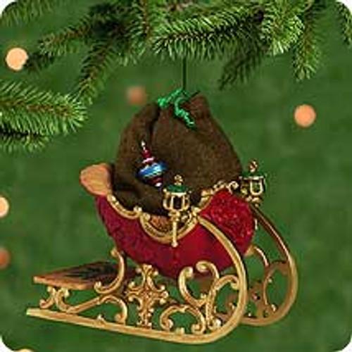 2001 Santa's Sleigh Hallmark ornament